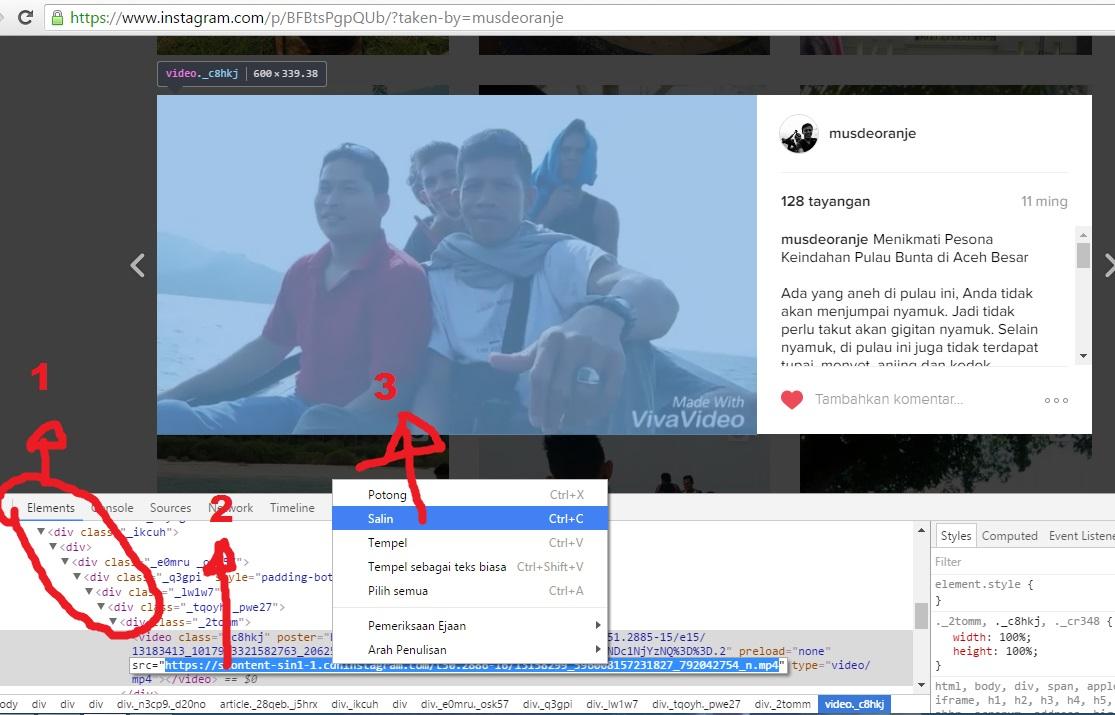 3 Cara Download Video Di Instagram Lewat Hp Dan Pc Musdeoranje Net