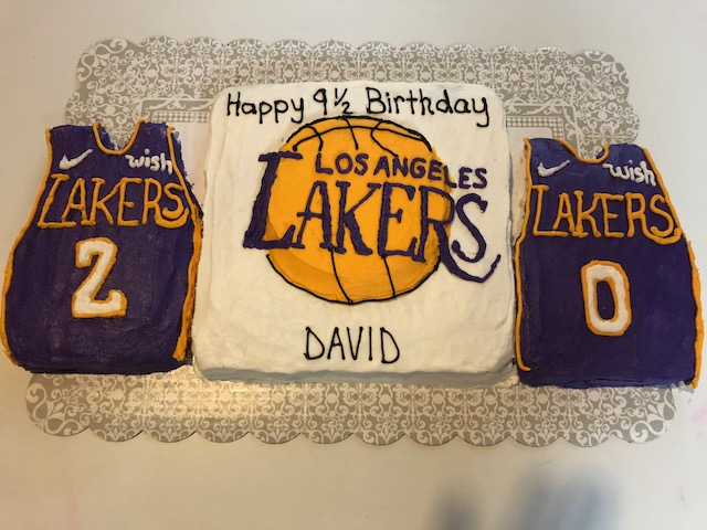 Erins Cakes Lakers Basketball Birthday Cake