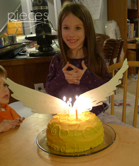Golden Snitch Shaped Birthday Cake