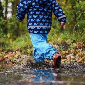 boy in rain coat