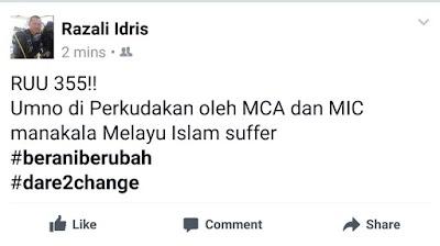Razali BLUR Dalam Politik, Sebab Tu Dok Layak Duduk Dalam UMNO