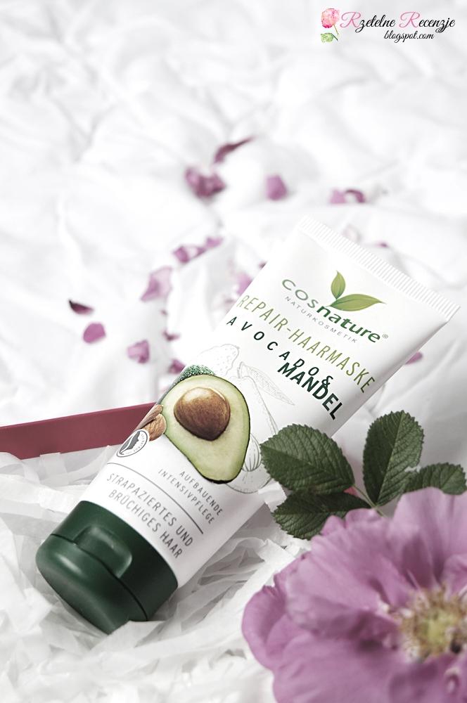 cosnature, maska do włosów avokado mandel