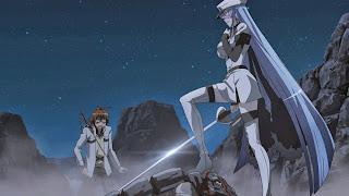 Tatsumi oraz Esdeath, kobieta w randze generała Imperium. Screen z anime Akame Ga Kill