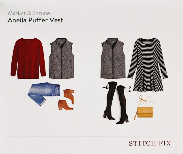 Stitch Fix Market & Spruce Anella Puffer Vest style card