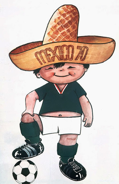 Juanito Mascota del Mundial de Futbol año 1970 Mexico