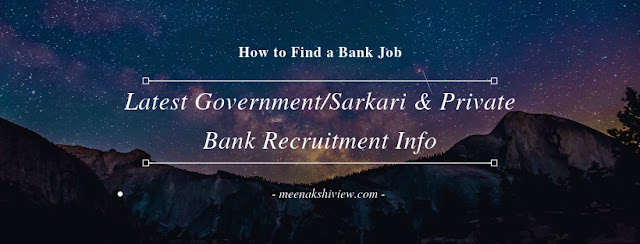 Latest Government/Sarkari and Private Sector Bank Recruitment