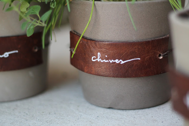 DIY Leather Herb Labels