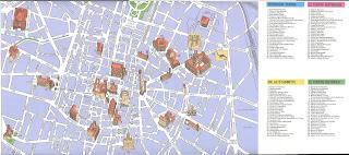 Mapa de Bolonia.