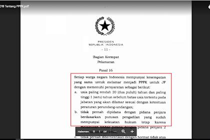 Syarat-syarat Pendaftaran PPPK Berdasarkan PP Nomor 49 Tahun 2018