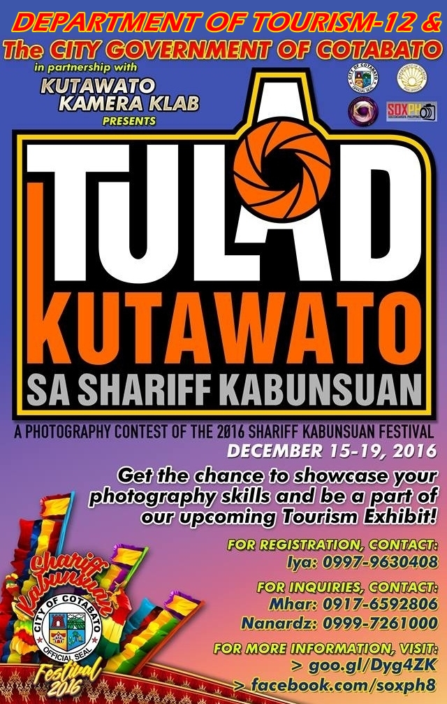 Shariff Kabunsuan Festival 2016 Obline Photography Contest!