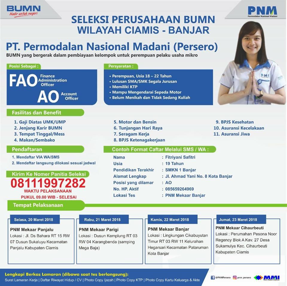 Lowongan Kerja Pt Permodalan Nasional Madani Wilayah Banjar 22
