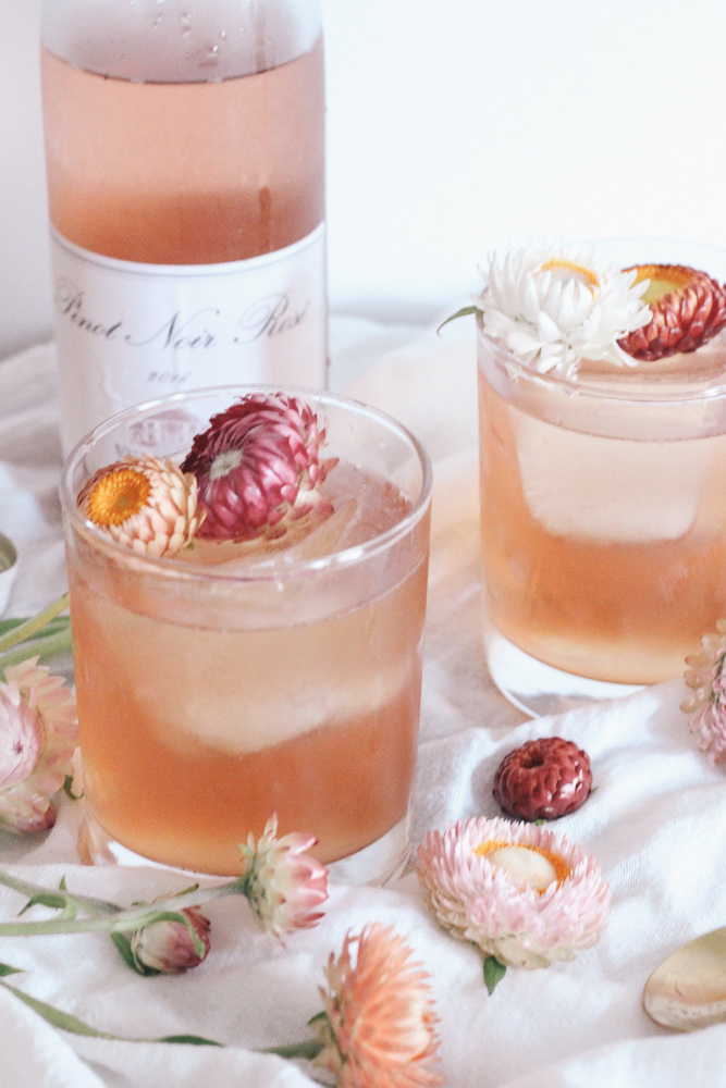 Boston Life and Style Blogger, The Northern Magnolia is sharing a delicious and refreshing cocktail combining rosé with the deep floral notes of elderflower liqueur and fresh citrus of grapefruit. This is one you don't want to miss!