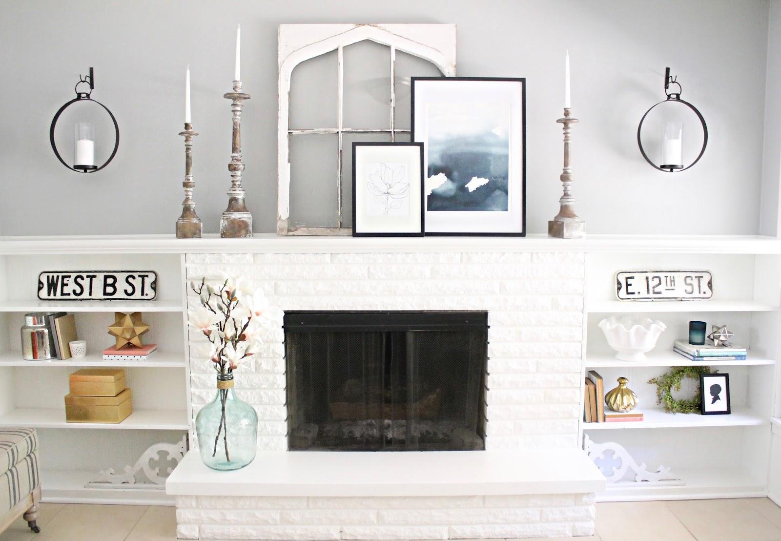 Extra long mantel shelf
