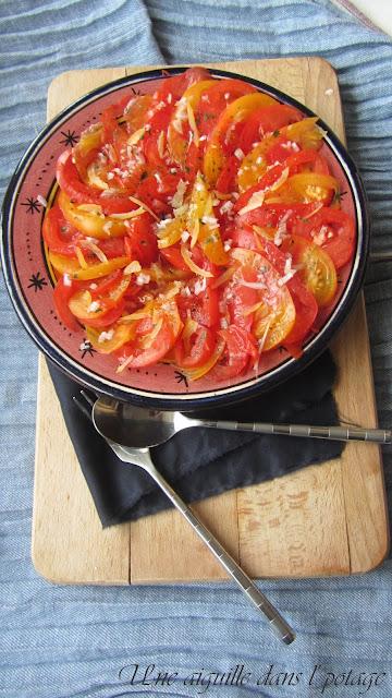 Salade de tomates au citron confit