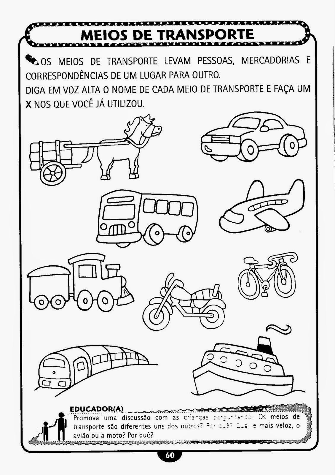 Semana Do Transito Atividades Sobre Transito E Meios De Transporte