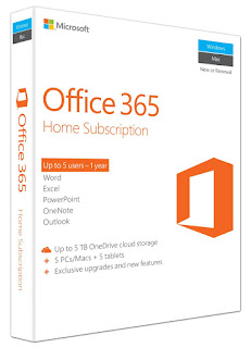 Microsoft Office 365, Home subscription, for PC/Mac, up to 5 user lisense ,£49.99