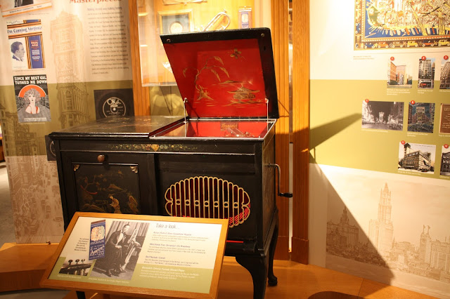 Early Brunswick record player at Bix Beiderbecke Museum