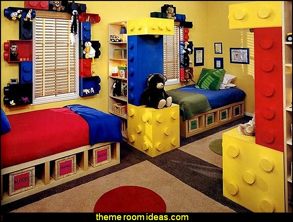 lego themed bedroom decorating ideas kids rooms