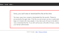Cara Mudah Mengatasi Limit Download Di Google Drive