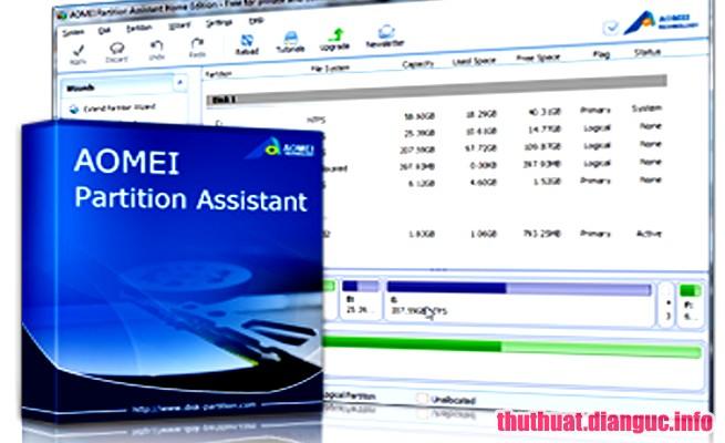 Download AOMEI Partition Assistant 7.2 Full Key – Quản lý phân vùng ổ đĩa