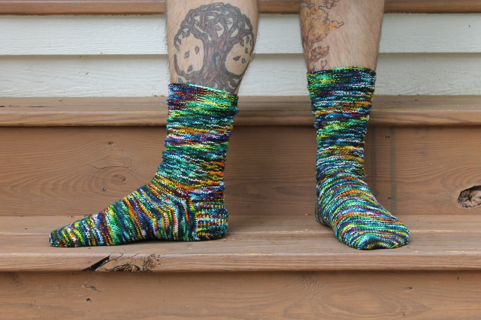 70106e6b5fe Socks are the perfect project for car knitting