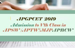 APRS 5th Class 2019, APGPCET Notification 2019