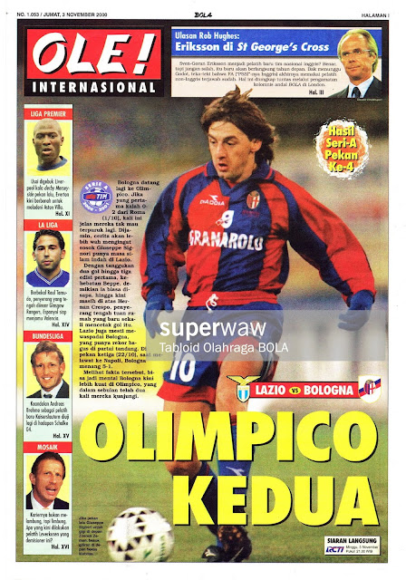 GIUSEPPE SIGNORI LAZIO VS BOLOGNA OLIMPICO 2000