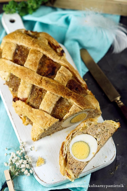 pieczen, rzymska, jajko, wielkanoc, mieso, ciasto, bernika, kulinarny pamietnik