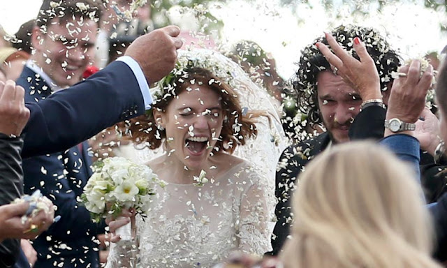 The Game of Thrones stars Kit Harrington and Rose Leslie wedding pictures in real life