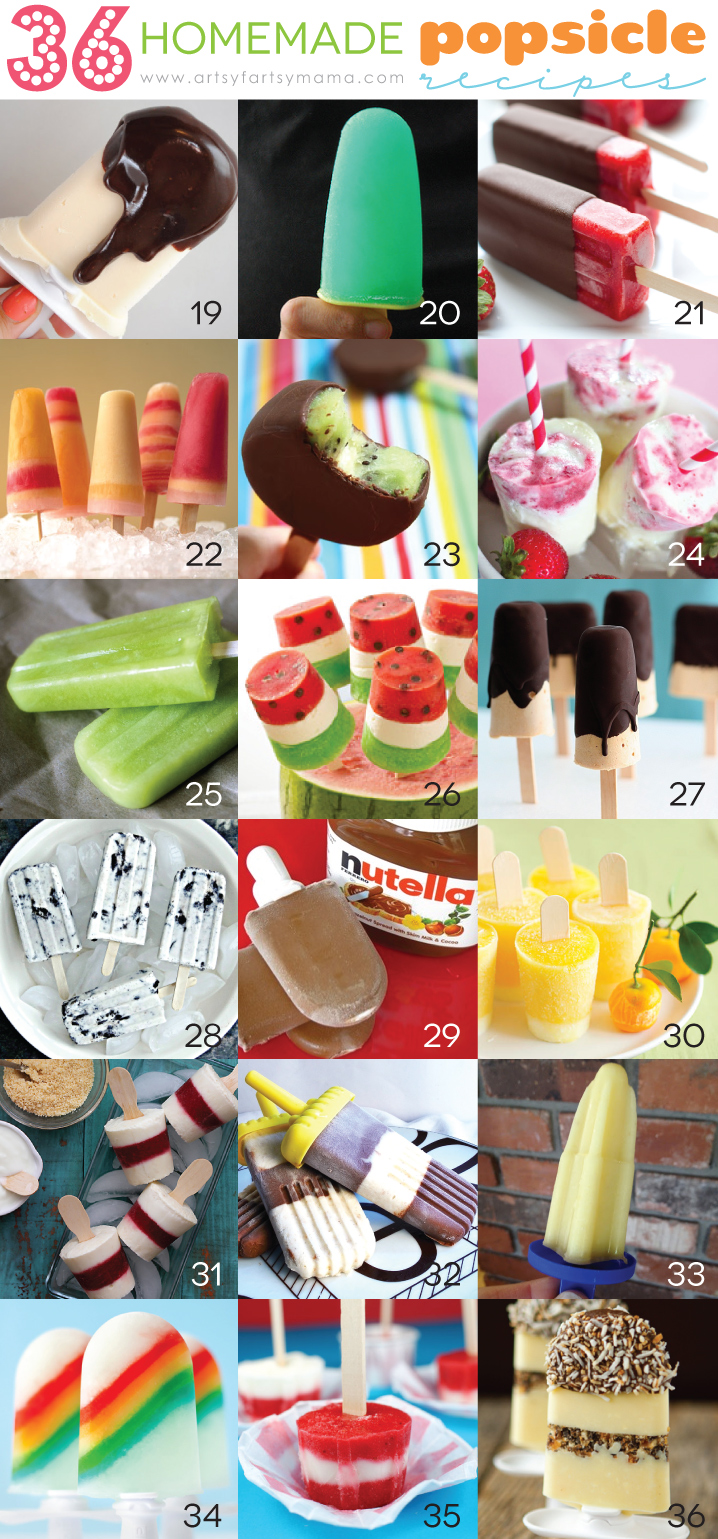 36 Homemade Popsicle Recipes (19-36)