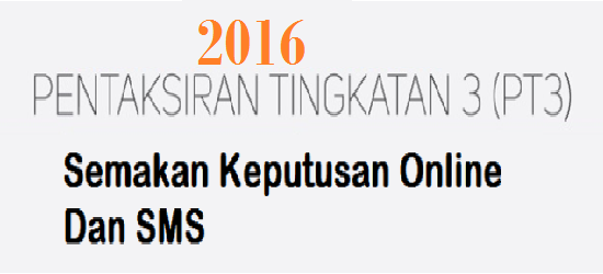 Keputusan PT3 2016