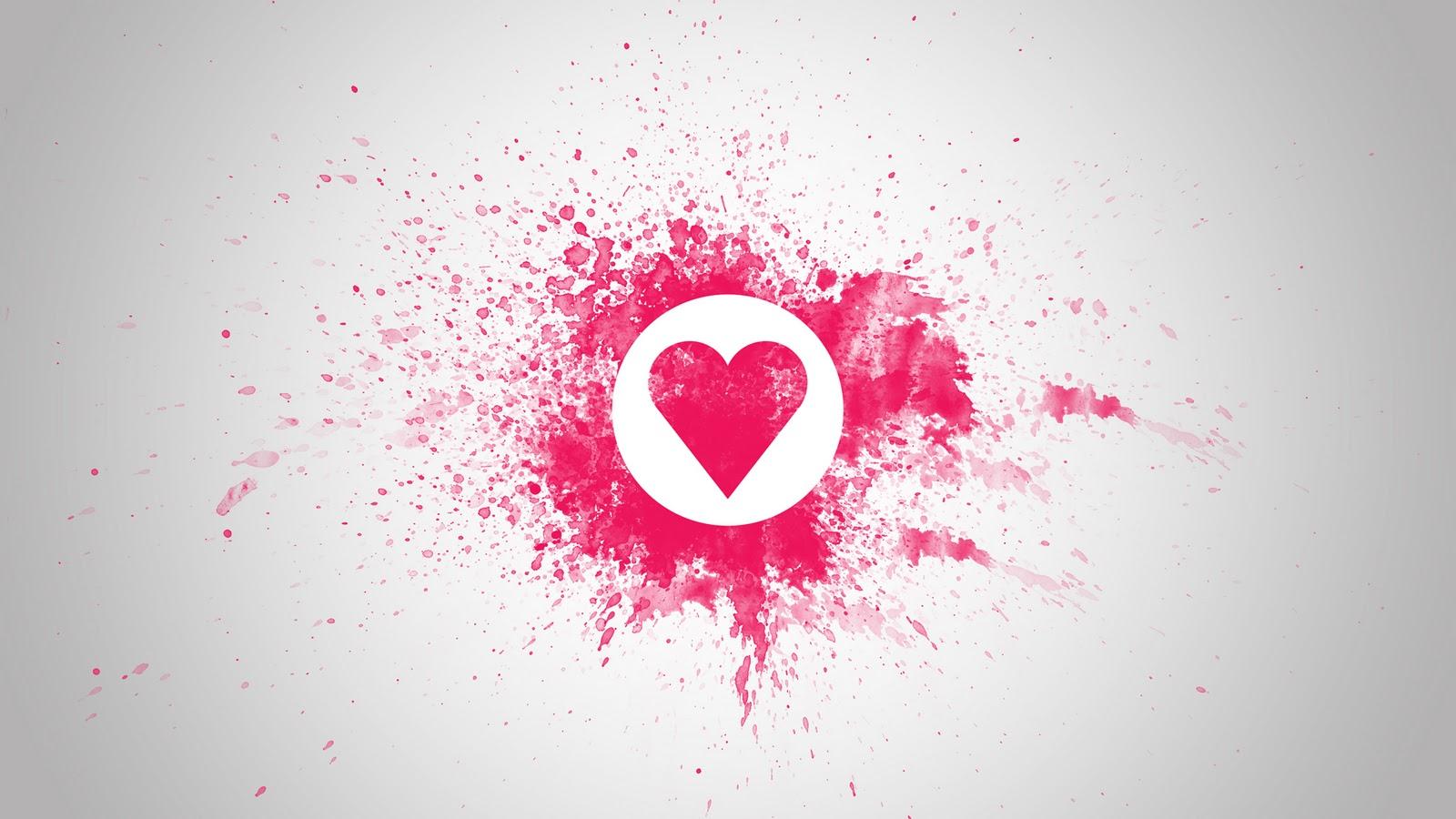 Love Heart Wallpaper Hd Wallpapertag: Love Heart Pink 1600x900 HD Wallpaper