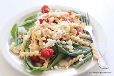 Nap-Time Creations: Spinach Feta Pasta Salad