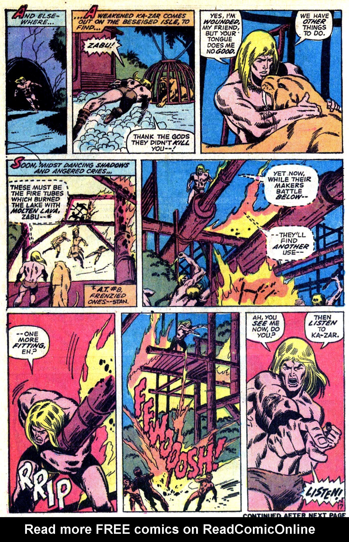 Read online Astonishing Tales (1970) comic -  Issue #10 - 18