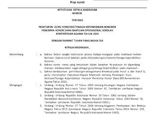 SK Pengangkatan Guru Dan Tenaga Honorer 2016