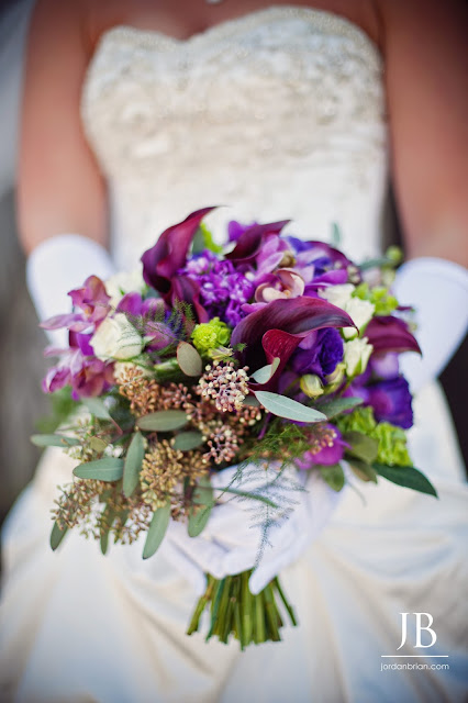 Purple & Green Wedding Delight by Stein Your Florist Co. Bridal Bouquet