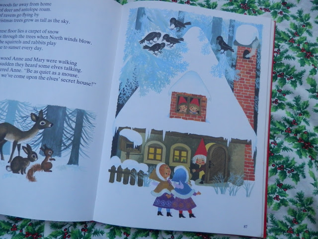 For Christmas, pretty Gisela Gottschlich illustrations. From retro book 'My Big Christmas Book'.  Secondhandsusie.blogspot.com #giselagottschlich #christmas #retro #illustration
