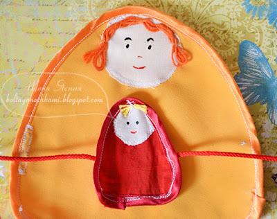 матрешка из ткани, кукла развивающая