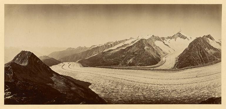Photographie panoramique des Alpes d'Adolphe Braun vers 1870