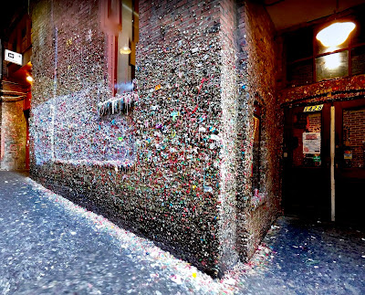 In 2015, Seattle cleaned up a 20-year-old  gum wall  that had become a local landmark. The job took workers an estimated 130 hours to fill 94 buckets with 2,350lb of gum...