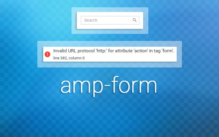 Mengatasi Error Pada AMP-FORM Search Box Blogger Non HTTPS
