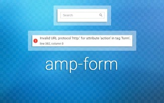 Mengatasi Error Pada AMP-FORM Search Box Blogger Non HTTPS