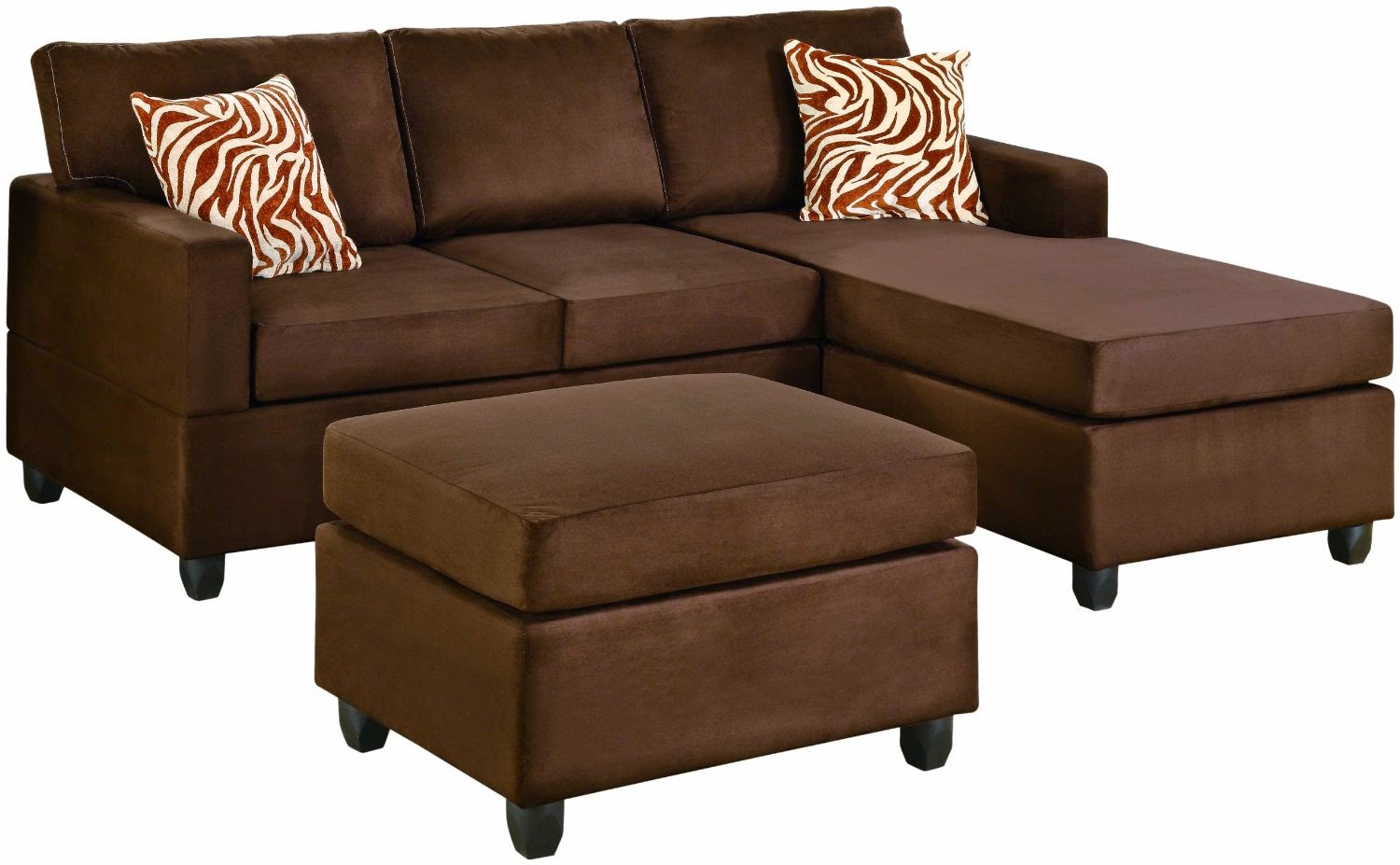 Microfiber Sectional Couch With Chaise