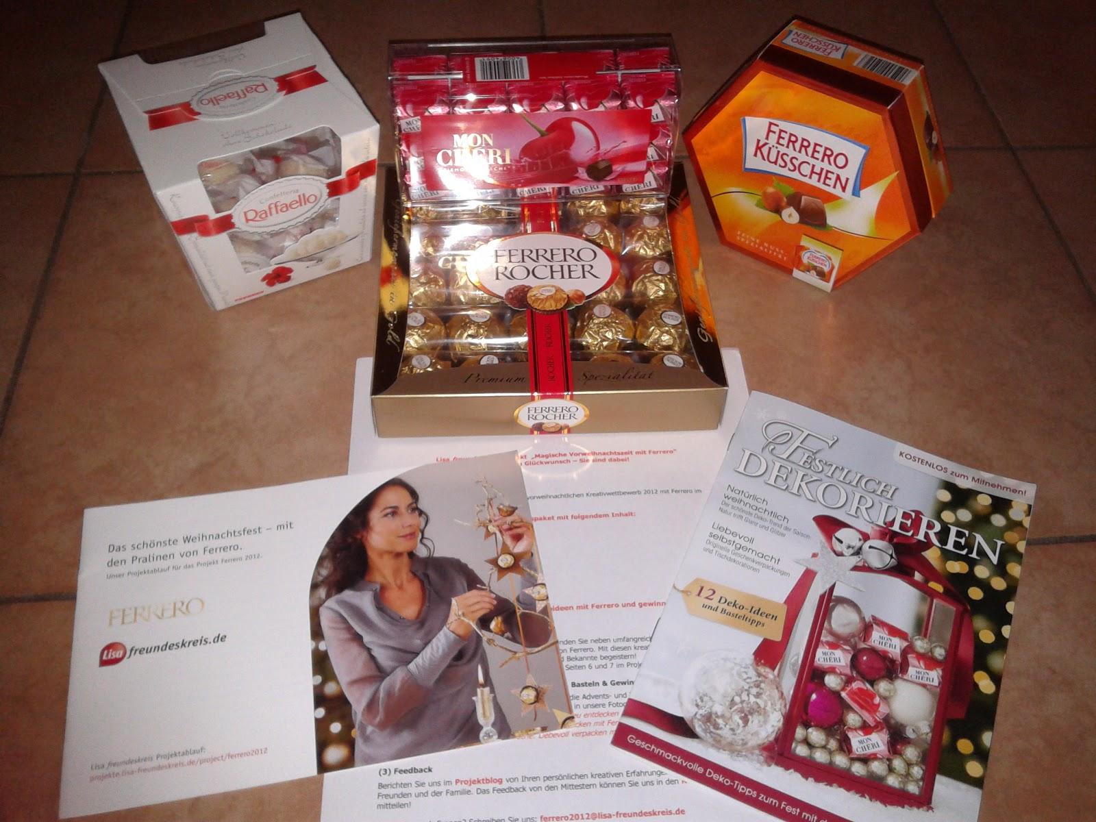 Weihnachtsdeko Ferrero.Jucheer Testet Basteln Mit Ferrero