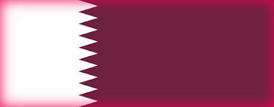 Flag of Qatar in the Middle East
