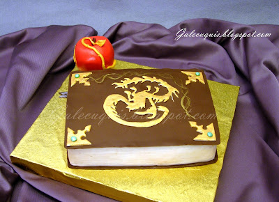 Descendants book cake
