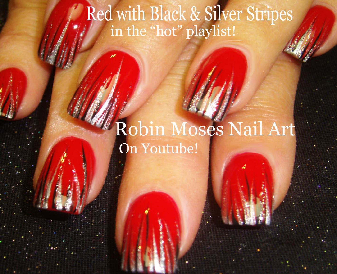 Nail Art by Robin Moses: Striped Spring nail art 2016 thats easy ...