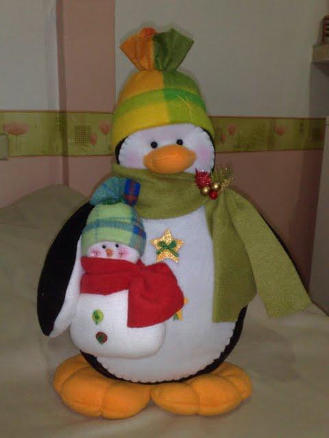 Armario Leroy Merlin Basic ~ Artesanato Fofo Pinguim de feltro para o Natal