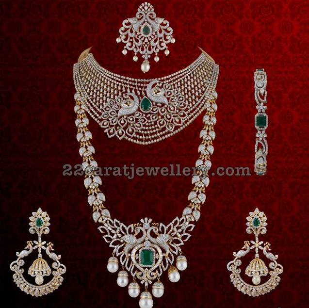 Peacock Diamond Haram Chandbalis