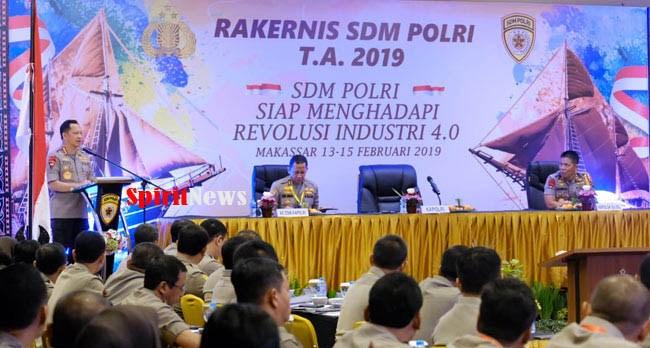 Kapolri, Paparkan Jumlah Personel dan Anggaran Tahunan Kepolisian Dari APBN di Rakernis SDM Polri Tahun 2019